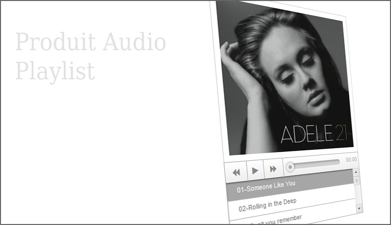 Produit audio playlist